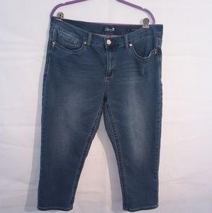 Seven7 Cropped Girlfriend  Denim Jeans size 16